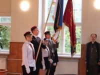 13 Vabariigi lipu õnnistamine Jakob Westholmi gümnaasiumis. Foto: Kaia Rikson