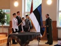 15 Vabariigi lipu õnnistamine Jakob Westholmi gümnaasiumis. Foto: Kaia Rikson