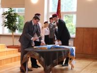 17 Vabariigi lipu õnnistamine Jakob Westholmi gümnaasiumis. Foto: Kaia Rikson