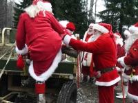 014 XVIII Ülemaalise Jõuluvanade konverentsi esimese adventpüha teekonnal. Foto: Urmas Saard