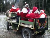 015 XVIII Ülemaalise Jõuluvanade konverentsi esimese adventpüha teekonnal. Foto: Urmas Saard