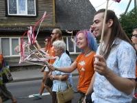 014 XXVII Viljandi pärimusmuusika festivali rongkäik. Foto: Urmas Saard