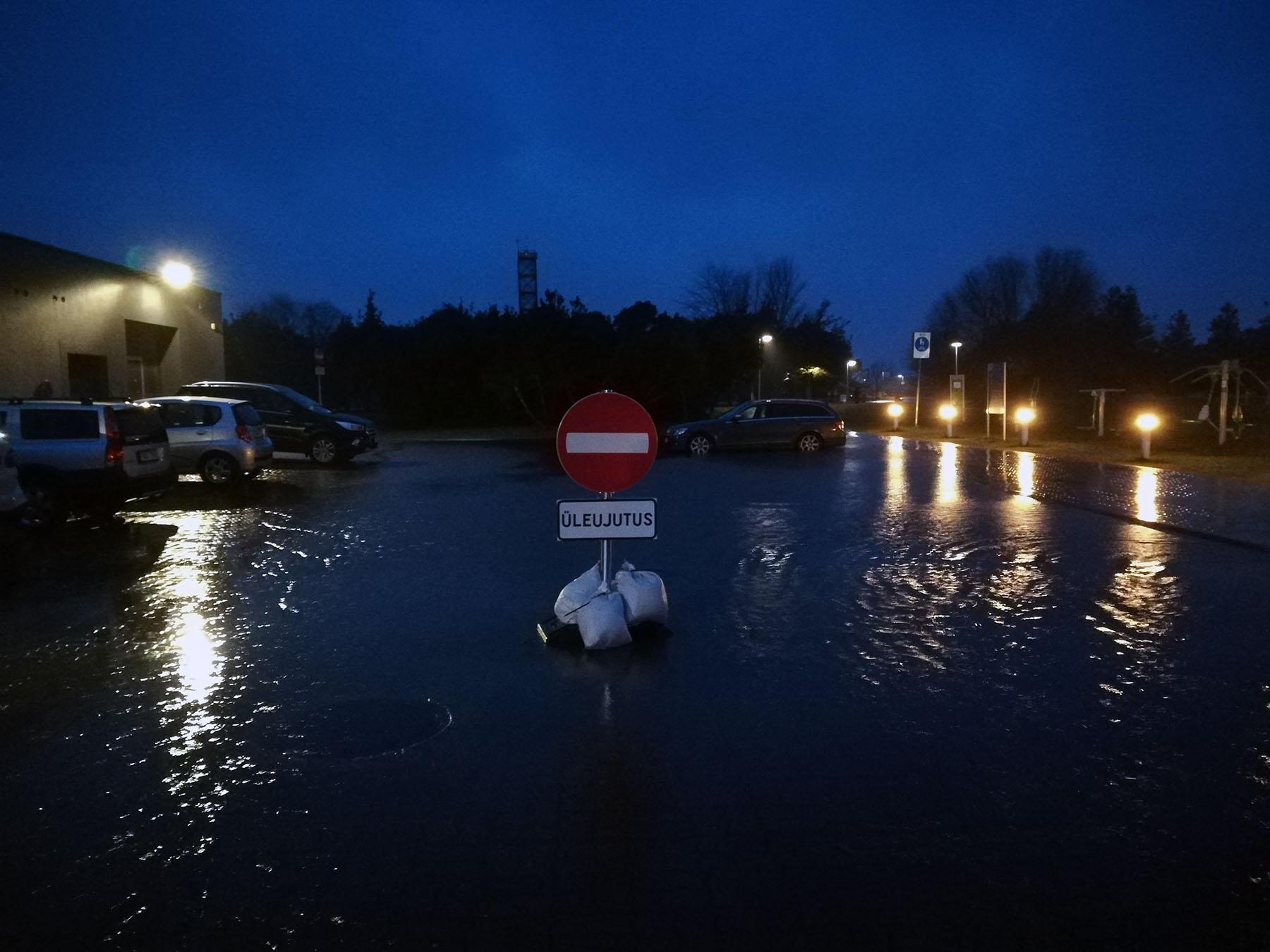 Üleujutuse piirkond Pärnus. Foto: Urmas Saard