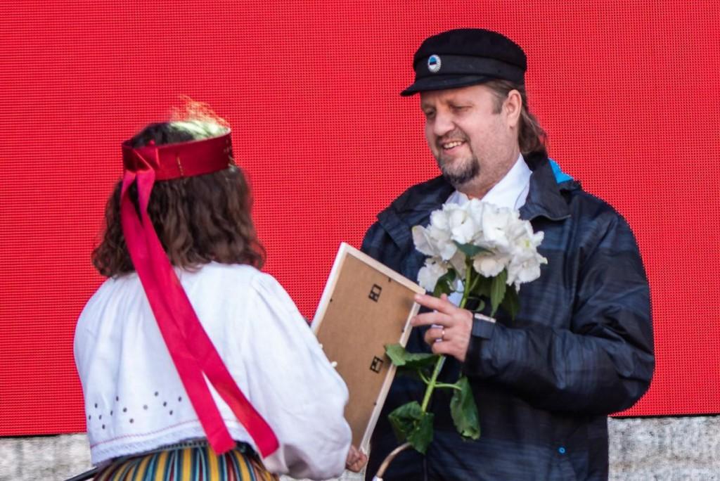 2019. aastal tunnustati lõõtspilli mängijat ja õpetajat Margus Põldseppa. Foto Rene Jakobson