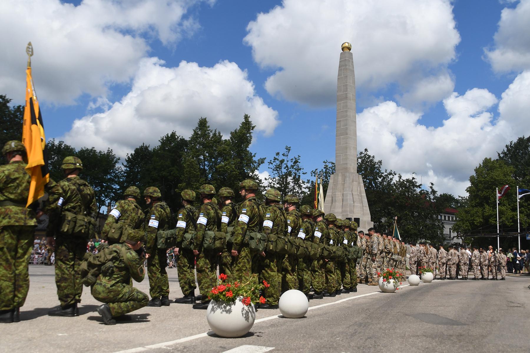 22. juunil tähistati Võnnu linnas saja aasta möödumist Eesti rahvaväe ühest suuremast ja tähenduslikumast võidust Vabadussõjas – Võnnu lahingust. Foto Urmas Saard