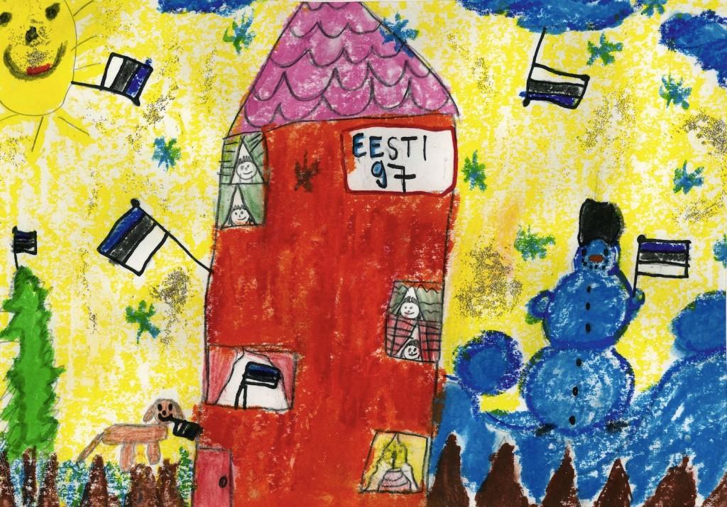 Võidutöö, mille joonistas kuueaastane Lota-Liisa Kivipalu.