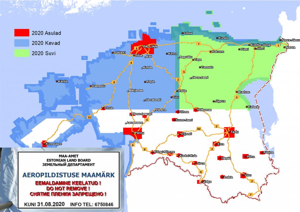 Aeropildistatav piirkond 2020 ja aeropildistuse maamärk