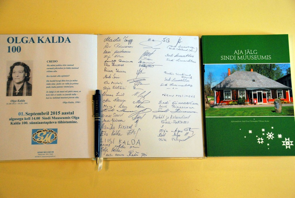 Aja jälg Sindi muuseumis. Tänavu möödub 105 aastat Sindi muuseumi asutaja Olga Kalda sünnist. Foto Urmas Saard
