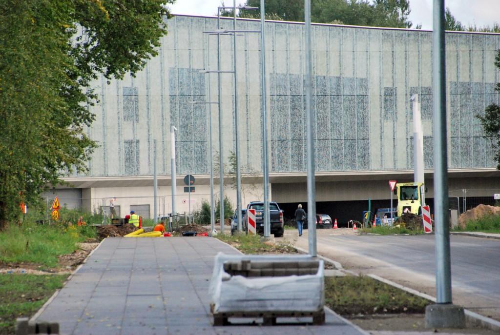 ERM Roosi tänavalt vaadatuna 43 päeva enne avamist Foto Urmas Saard