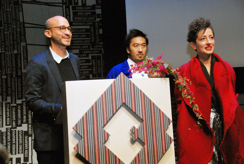 ERMi arhitektid Dan Dorell, Tsuyoshi Tane ja Lina Ghotmeh Foto Urmas Saard