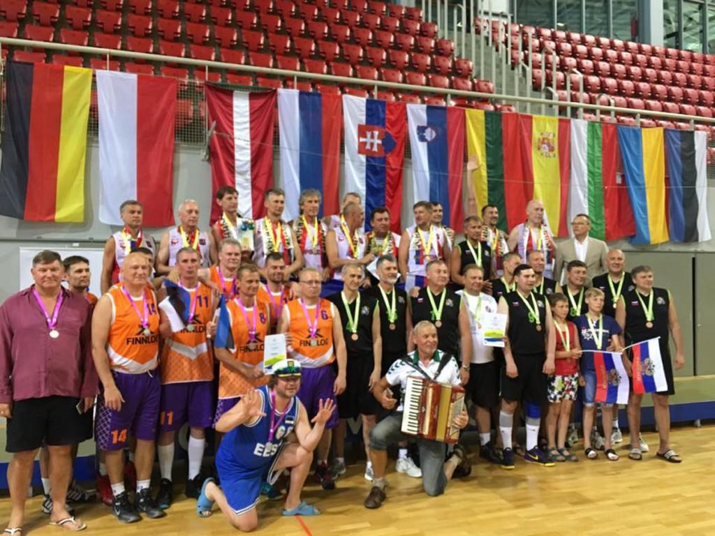 ESBA Euroopa meistrivõistluste seeniorkorvpallurite autasustamine