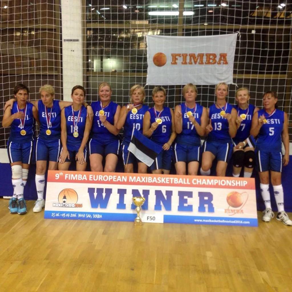 Eesti 50+ naiskond, kes võitis EM kulla