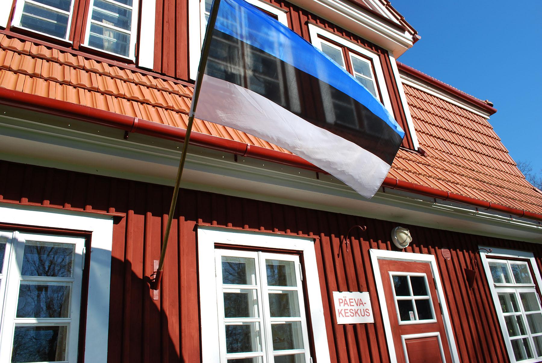 Eesti Vabariigi aastapäeva hommikul heisatakse enne kaheksat riigilipud. Foto Urmas Saard