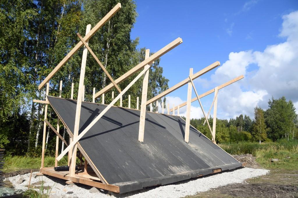 Ehitusjärgus Poseidoni jalgpalliväljaku tribüün Foto Urmas Saard