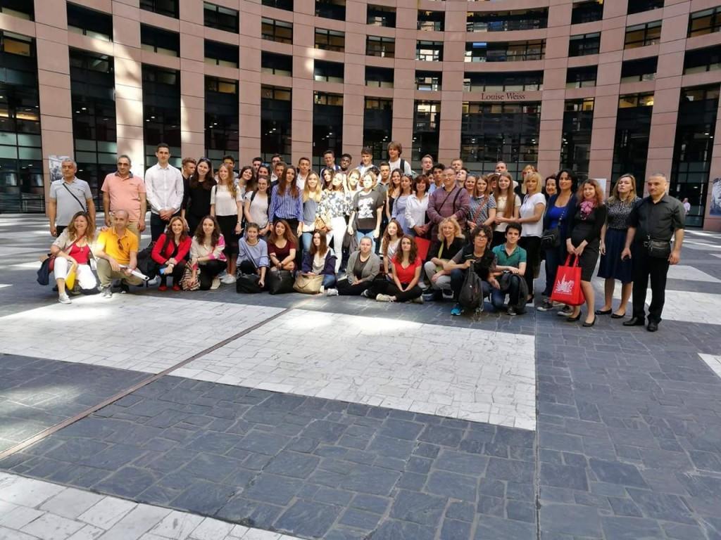 Erasmus+ grupp Europarlamendis