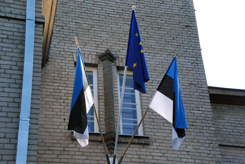 Euroopa lipp Sindi raekojal Foto Urmas Saard