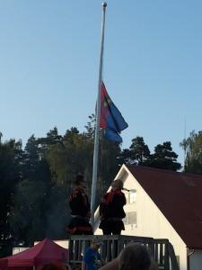 Folgi saami teemalise lipu heiskamine