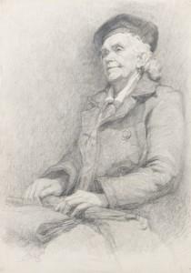 Õpilase E. Mäeotsa joonistus (1958), juhendaja Ellen Polli.