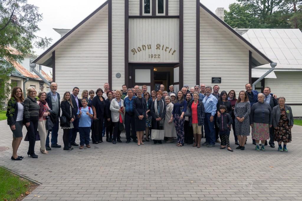 Glehni suguvõsa Nõmme Rahu kirikus Foto Endel Apsalon