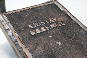 Gustav Fabergé pronksist infotahvel Foto Urmas Saard