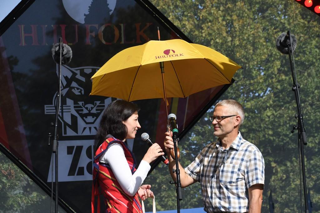 Hiiu folgi juht Astrid Nõlvak ja loomaaia direktor Tiit Maran. Foto Urmas Saard