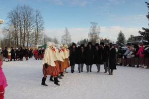 Talvepealinna vastuvõtt jenka saatel. Foto: Monika Otrokova