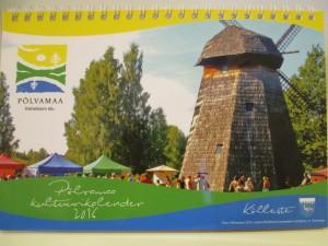 Põlvamaa 2016. aasta kultuurikalendri esikaanel on jäädvustus 2015. aasta Ökofestivali perepäevalt.