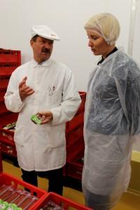 Juhataja Andres Trumm tutvustas Arke Lihatööstuse tootmist