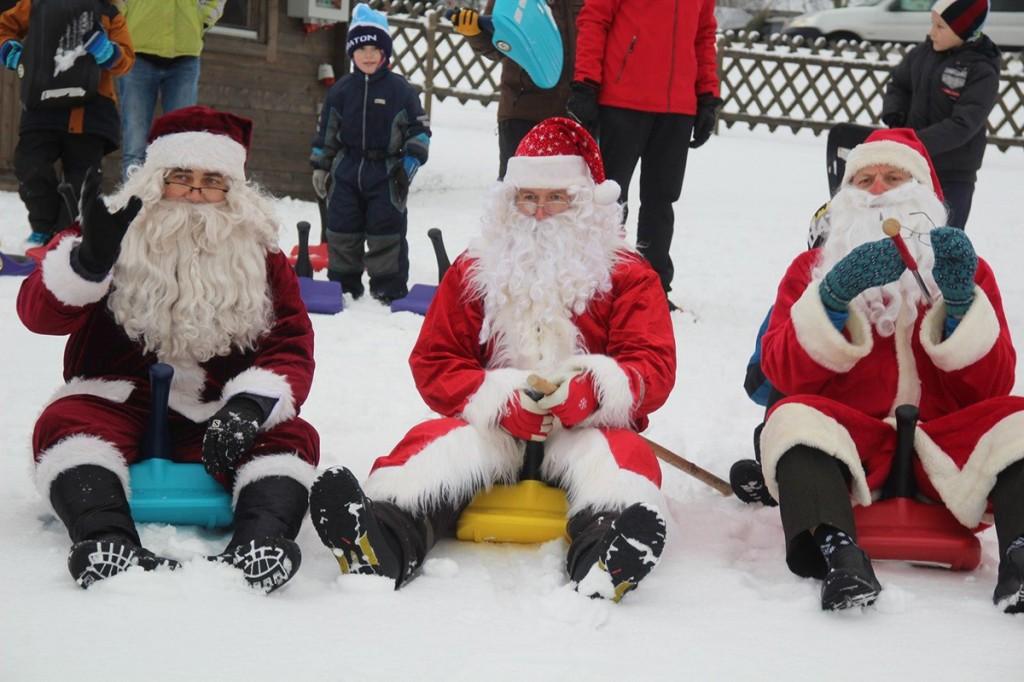 Jõuluvanade kokkutulek 2017. aastal. Foto Monika Otrokova