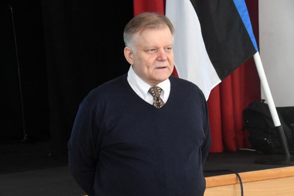 Jüri Estam Pärnus Nooruse Majas. Foto Urmas Saard