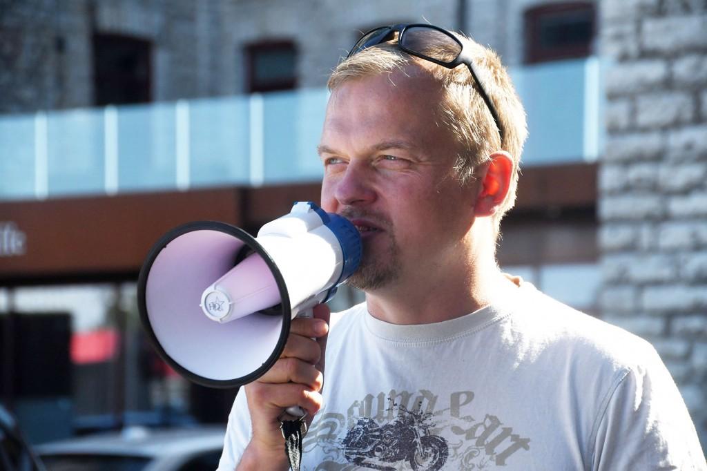Jaak Juske, tuntud Tallinna vaatamisväärsuste tutvustaja. Foto Urmas Saard