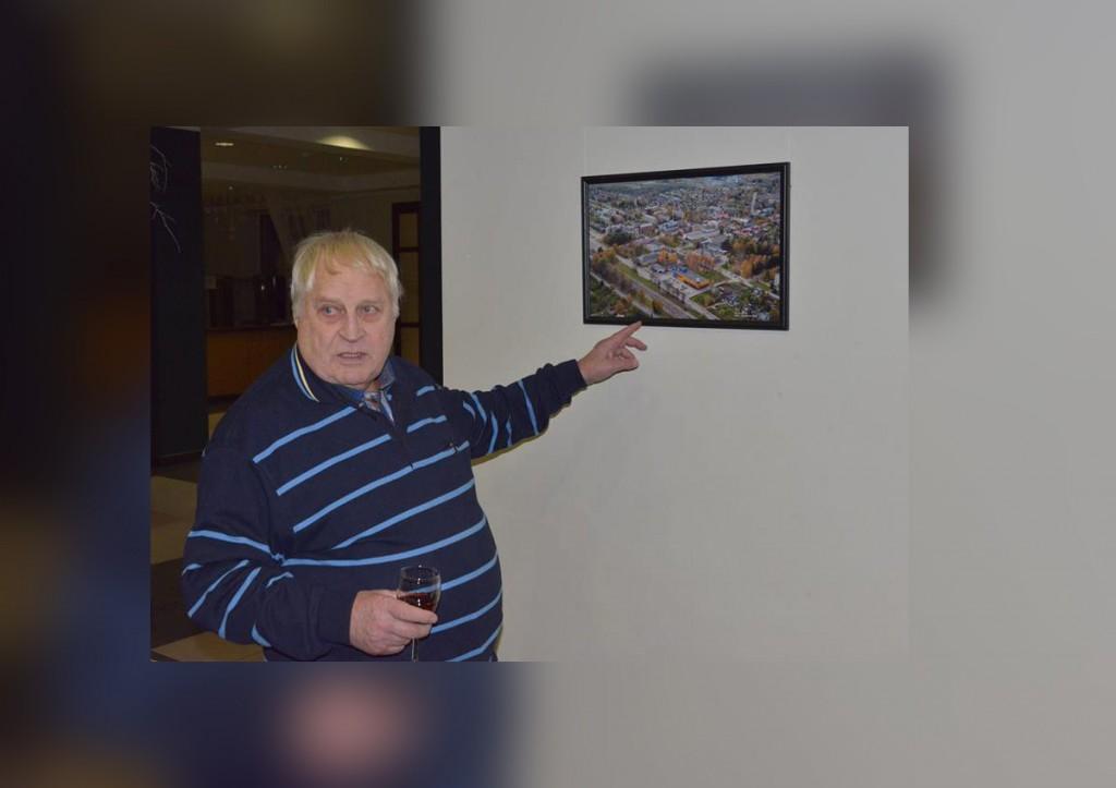 Johannes Haav aerofotoga Jõgeva linnast aastast 2011. Foto Raivo Tasso