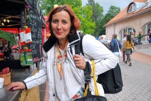 Juhuslik kohtumine Ülle Jantsoniga Pärimusmuusika aida esisel Foto Urmas Saard