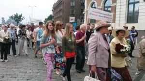 Juuni küüditamise 74 aastapäeval Riias Foto Viire Talts