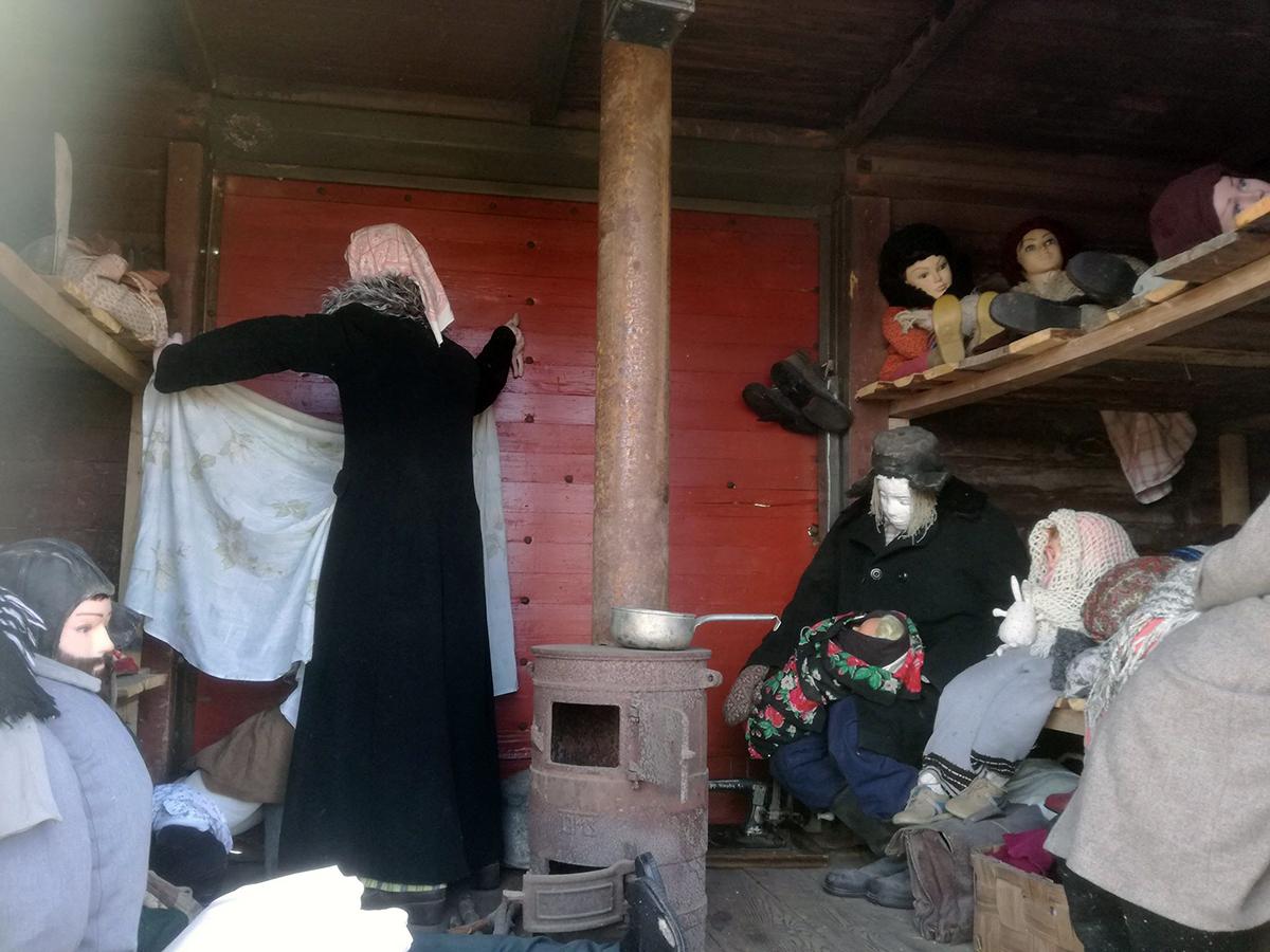 Küüditamisvaguni näidis Avinurmes. Foto Aivar Saarela