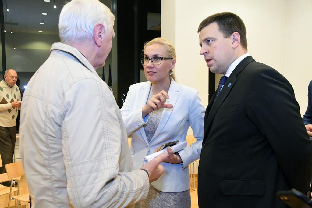 Kadri Simson ja Jüri Ratas Pärnus Foto Urmas Saard