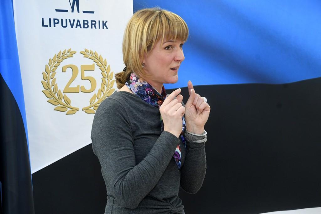 Karina Tõeleid, Lipuvabriku juhataja – Tunnustust väärivad julged mehed teel Antarktikasse ja julged paljulapseliste perede loojad. Foto Urmas Saard