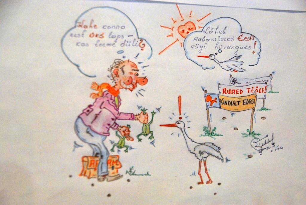 Kas teeme diili, Mati Michelise karikatuur Foto Urmas Saard