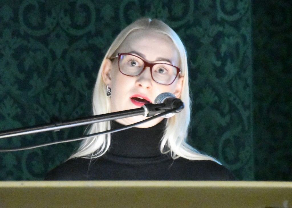 Kati Voomets, Swedbanki Rahaasjade Teabekeskuse juht, Tervise konverentsikeskuses. Foto Urmas Saard