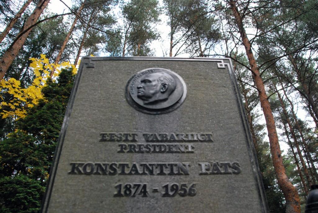 Konstantin Pätsi hauatähis Metsakalmistul Foto Urmas Saard
