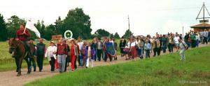 Viljandi maakonna külade päev, mil Kuhjaveres avati bussiootepaviljon. Foto: Jaanus Siim