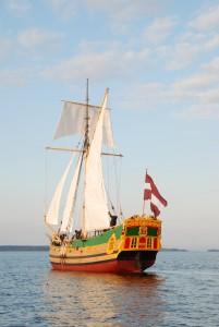Lätlaste purjelaev Libava Saaremaa merepäevadel.
