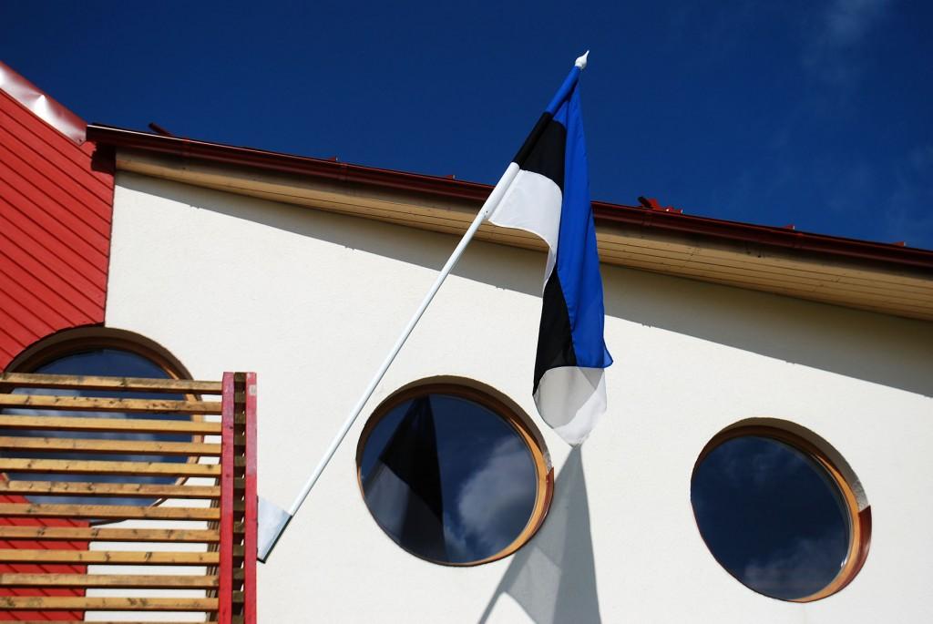 Lipp Jänesselja lasteaial. Foto Urmas Saard