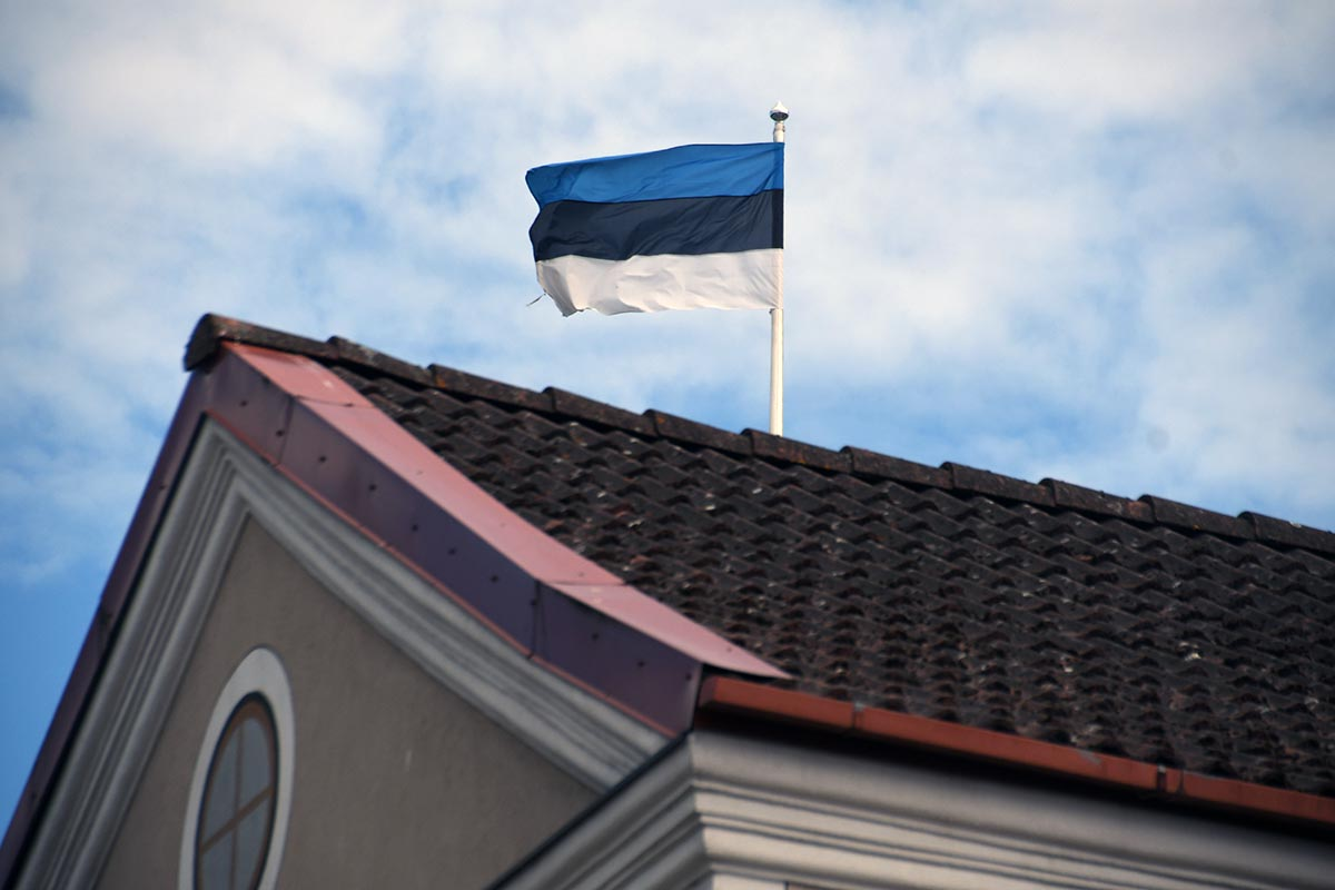 Lipp Pärnu tänavapildis. Foto Urmas Saard