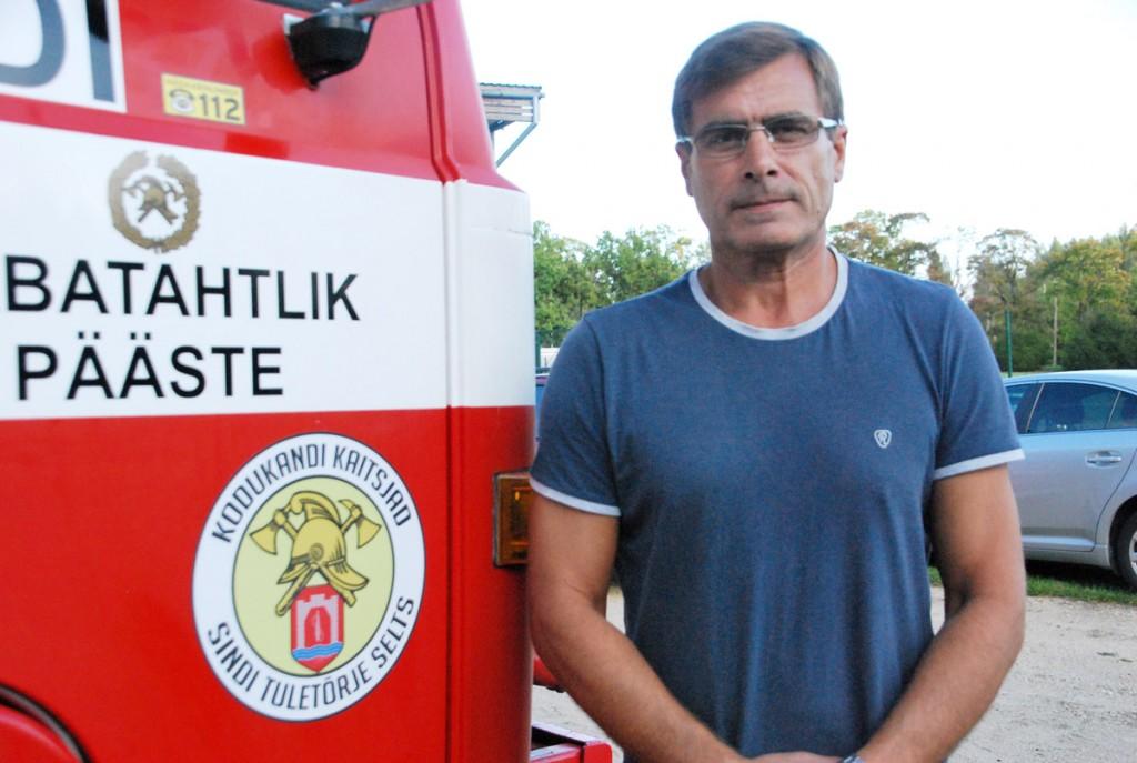 Margo Lääts, Sindi tuletõrje seltsi juhatuse liige Foto Urmas Saard