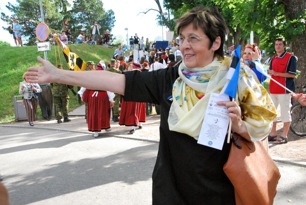 Mari Suurväli 2016 a lipu päeva tähistamisel Pärnu Vallikäärus Foto Urmas Saard