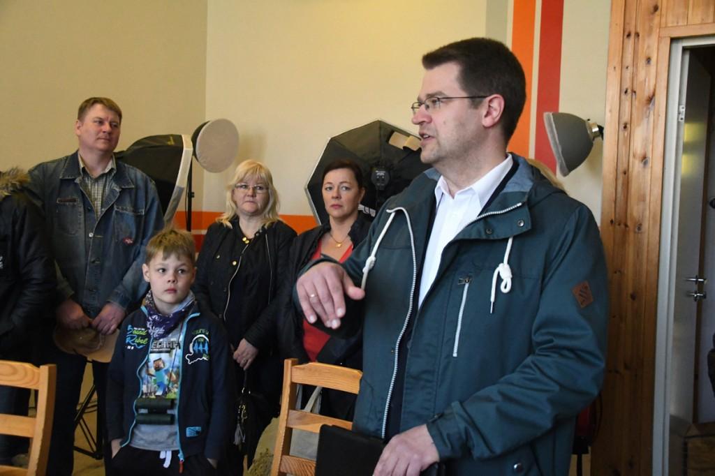 Marko Šorin on toonud ekskursioonil osalejad SG Reporteri stuudiosse Foto Urmas Saard