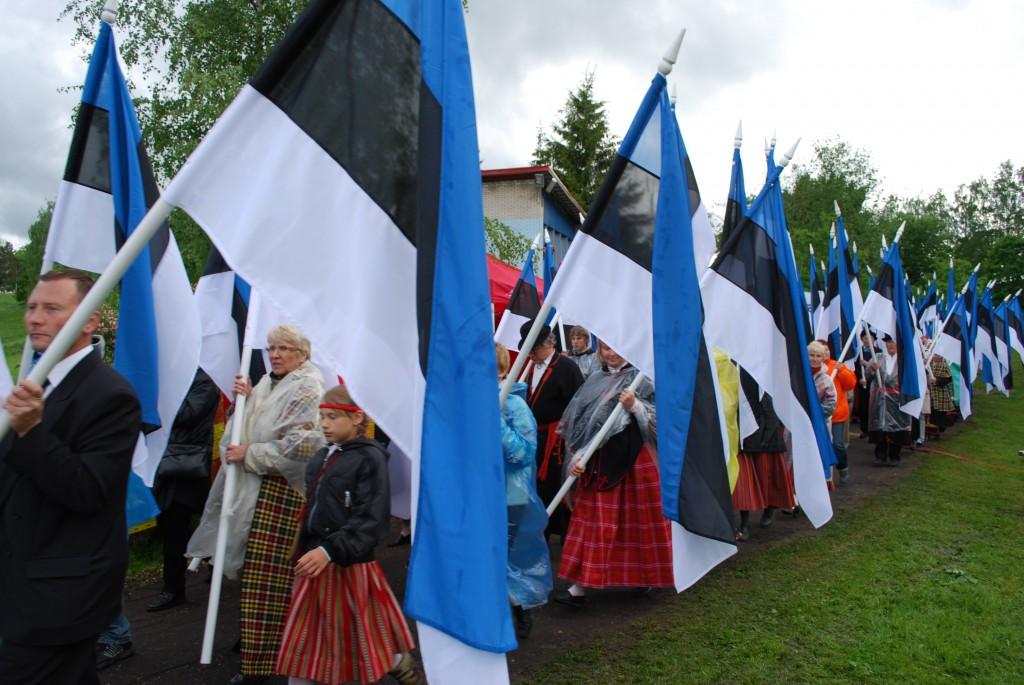 Meenutades Eesti lipu 125 aastapäeva tähistamist Otepääl Foto Urmas Saard