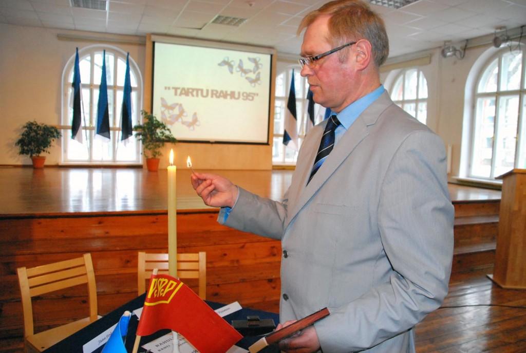 Meenutus Tartu rahu 95 aastapäeva tähistamisest Sindi gümnaasiumis Foto Urmas Saard