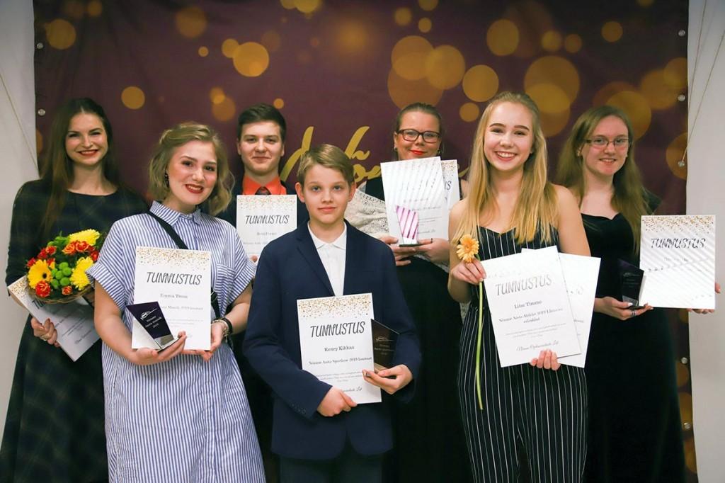 Nõmme aasta õpilase gala laureaadid. Foto Jukko Nooni